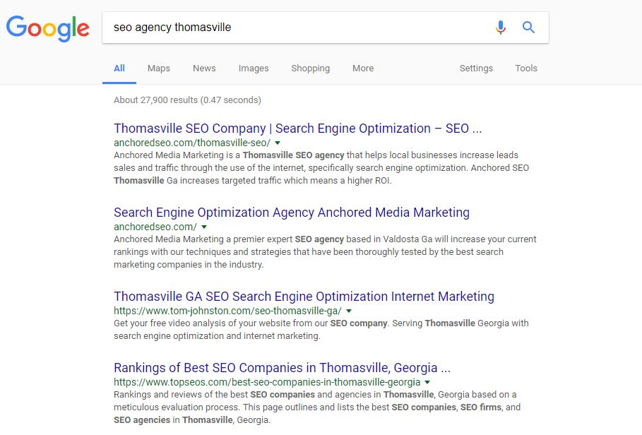 Seo Agency Thomasville